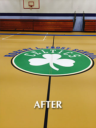 Lawrence Public School Gym Floor