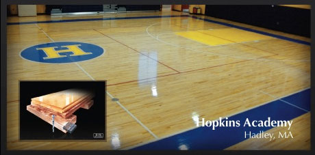 Wood Gymnasium Floor System by New England Sports Floors