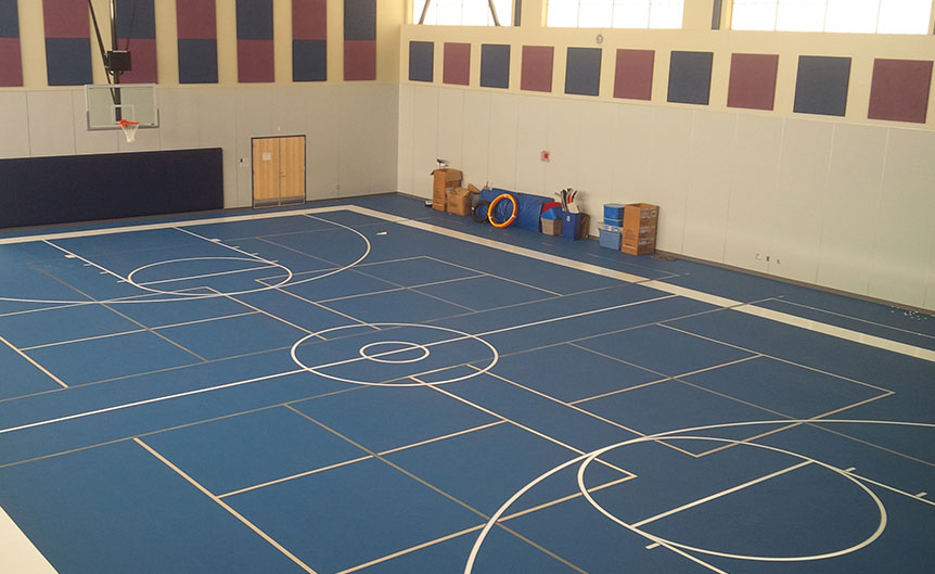 Rubber and synthetic gym floor photos new england sports for Sports flooring